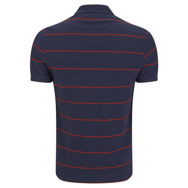 Lacoste men 39 s striped pique polo shirt navy red free for Lacoste stripe pique polo shirt