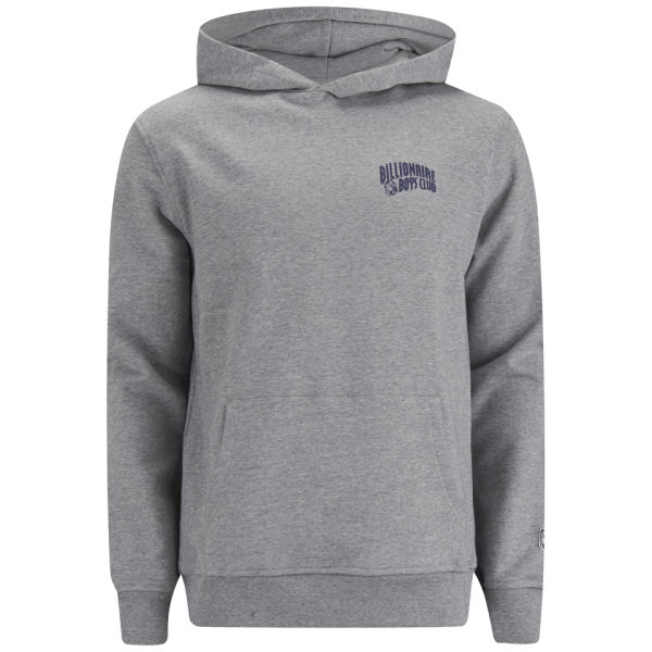 Billionaire Boys Club Men's Small Arch Logo Hooded Sweatshirt - Grey
