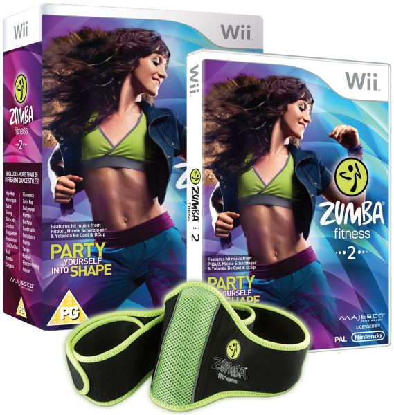 Zumba fitness 2 includes fitness belt nintendo wii for Living room zumba