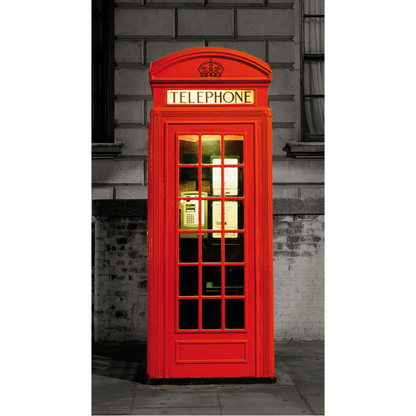 London Phone Box Door Mural Iwoot