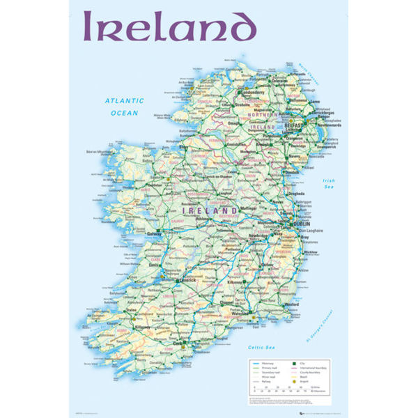 Ireland Map 2012 - Maxi Poster - 61 x 91.5cm