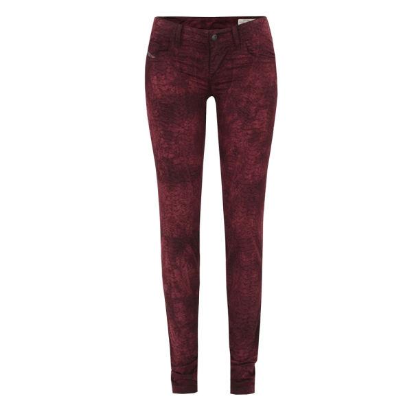 Diesel Women's Grupee Jeans - Burgundy