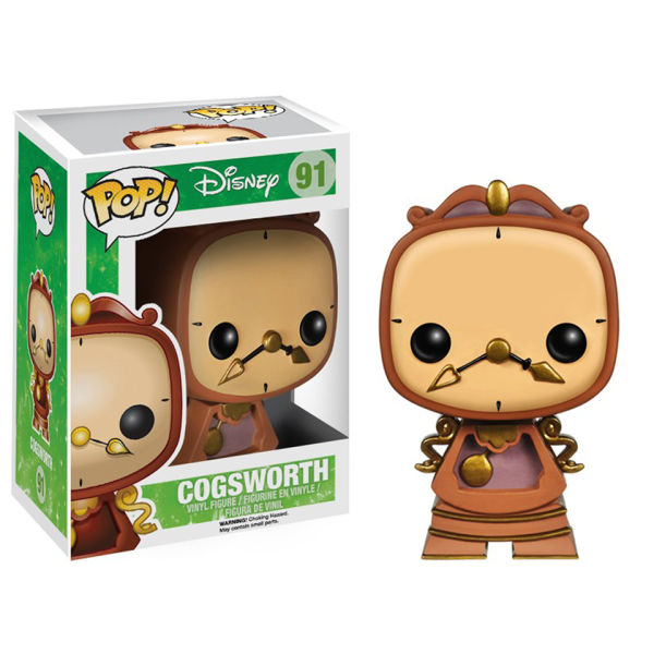Disneys Beauty and the Beast Cogsworth Pop! Vinyl Figure