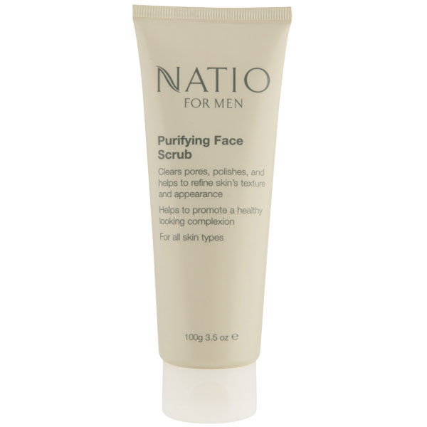 Gommage purifiant visage pour homme de Natio (100g)