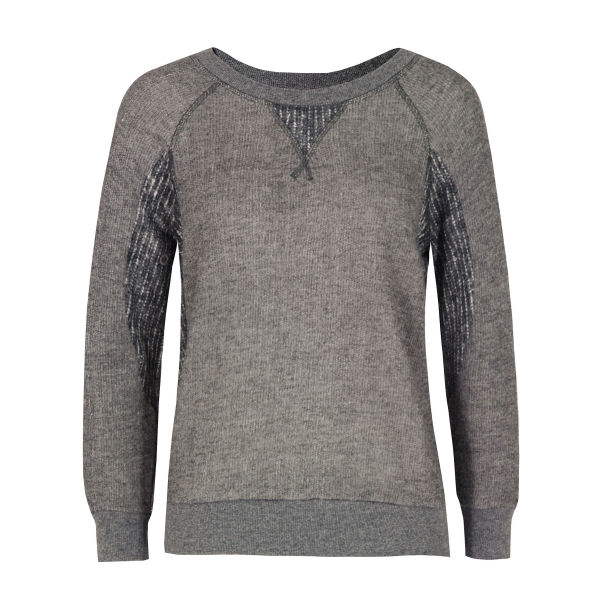 Marc by Marc Jacobs Women's 637 Win Athletic Loopback Jersey Sweat - Grey Melange