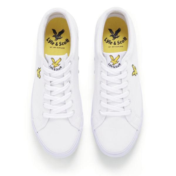 Lyle   Scott Men s Halket Canvas Trainers - White Mens Footwear ... c70d9045d