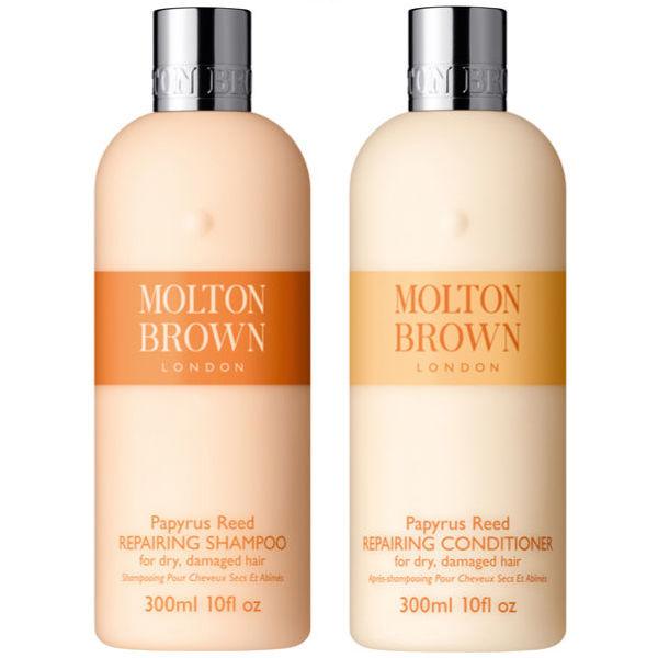 Molton Brown Papyrus Reed Repairing Shampoo & Conditioner 300ml (Bundle)