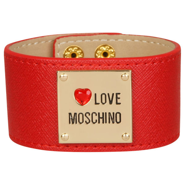 Love Moschino Women's Cuff Bracelet - Red
