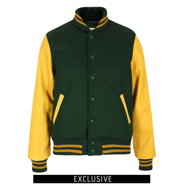 Dehen Men's Varsity Jacket - Green/Gold