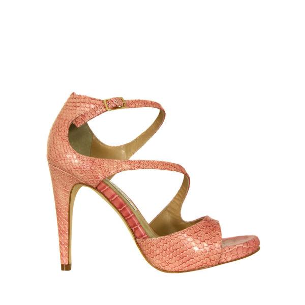 Diane von Furstenberg Women's Jujette Snake Print Sandals - Rosa Antico