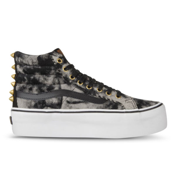 Vans Women's Sk8-Hi Platform Studded Hi-Top Trainers - Black