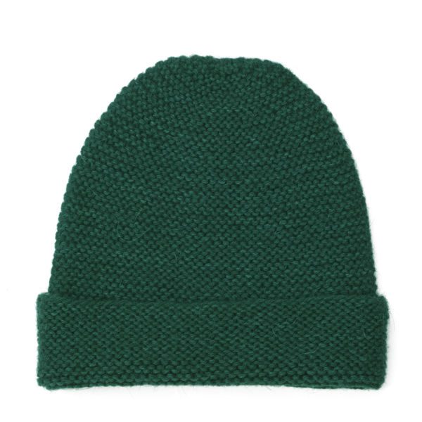 Collective Purl Stitch Beanie Hat - Seasonal Green