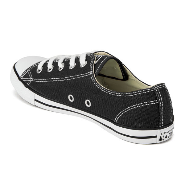 Converse Women s Chuck Taylor All Star Dainty OX Trainers - Black  Image 5 e0bf5a4bca