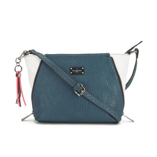 Paul s Boutique Francis Zip Panel Cross Body Bag - Teal  Image 1 917ee444124e7