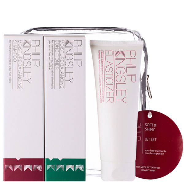 Estuche productos suavizantes y brillo Philip Kingsley Jet Set - Soft & Shiny