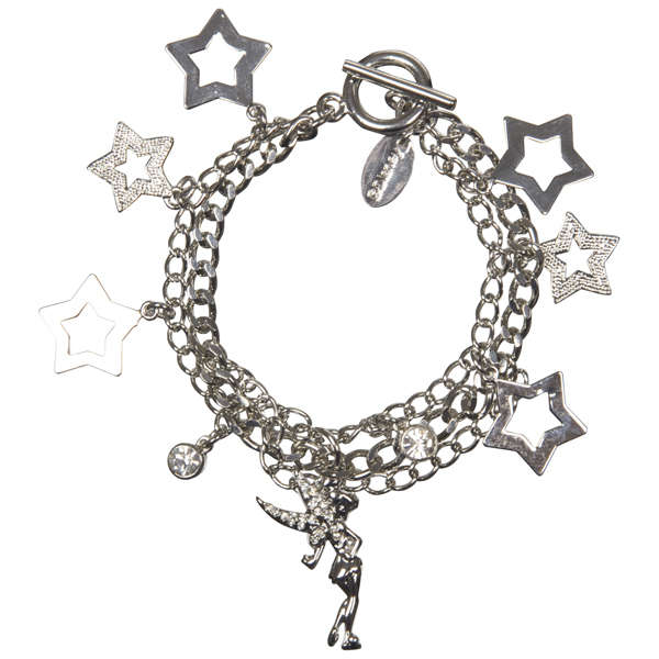 Disney Tinkerbell Charm Bracelet Minnie Charms In Silver