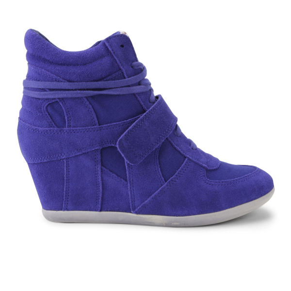 Ash Women's Bowie Suede Wedged Trainers - Royal Blue