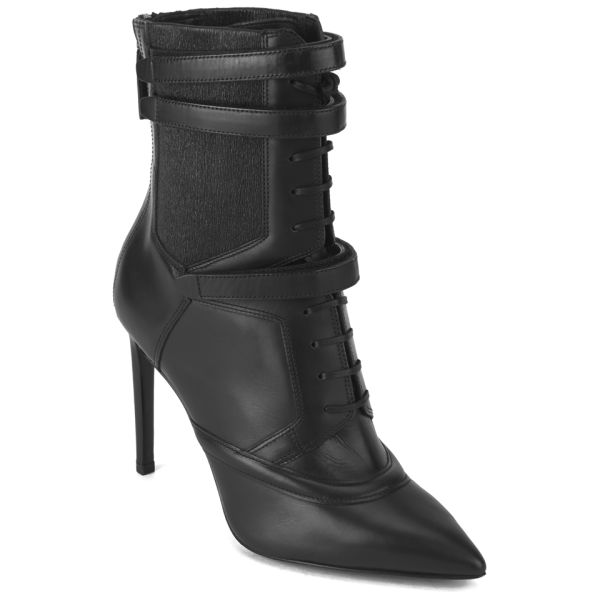Boss Hugo Boss Women S Judy Lace Up Leather Heeled Ankle