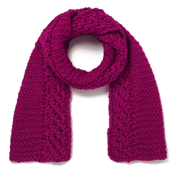 French Knitting Scarf : French connection fifi knitted scarf berry punch