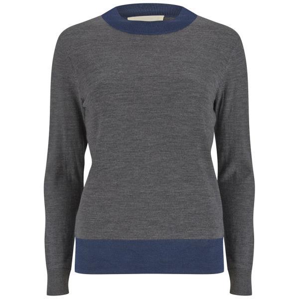 Folk Women's Fine Mock Turtle Knit Jumper - Mid Grey