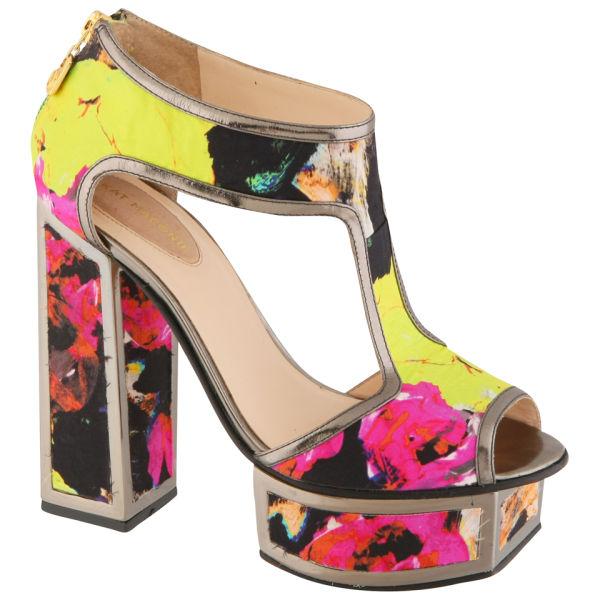 Kat Maconie Women's 'Abigail ' Flower Silk Platform Heels
