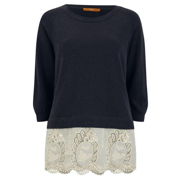 BOSS Orange Women's Llanna Knit Sweater - Charcoal