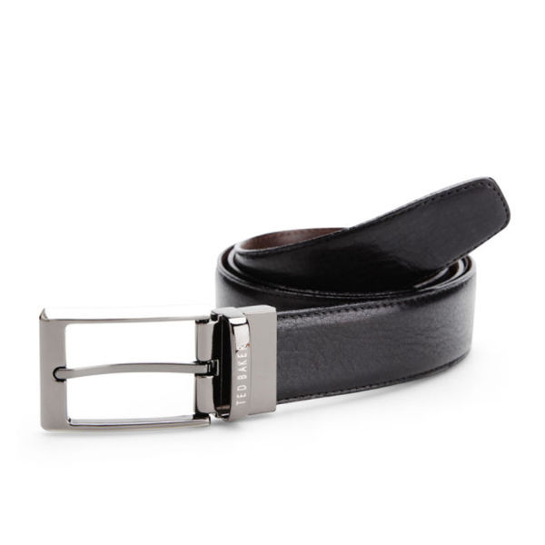 Ted Baker Revell Stitched Reversible Leather Belt - Black