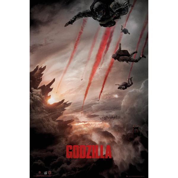 Godzilla 2 Imax Poster Textless: Godzilla Skydive Maxi Poster (61 X 91.5cm) Merchandise