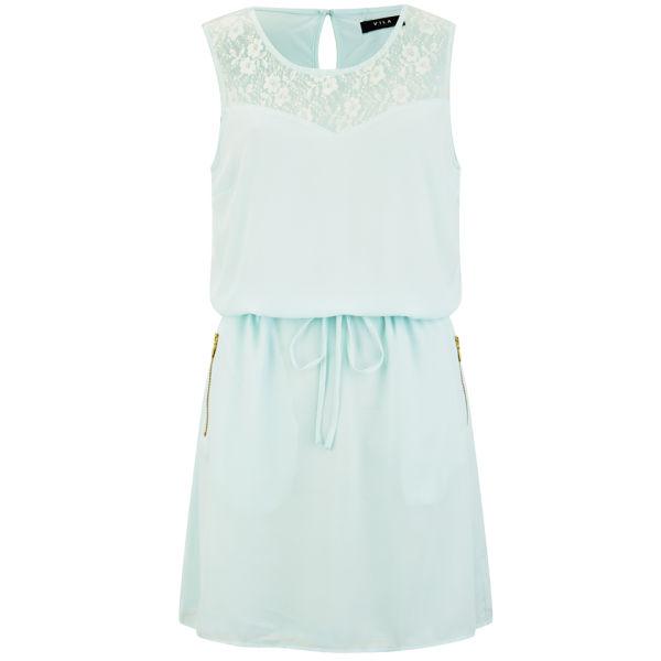 VILA Women's Titra Summer Dress - Aqua