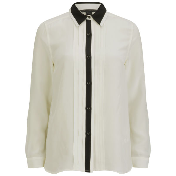 Marc by Marc Jacobs Women's Pintuck Button Down Shirt - Antique White