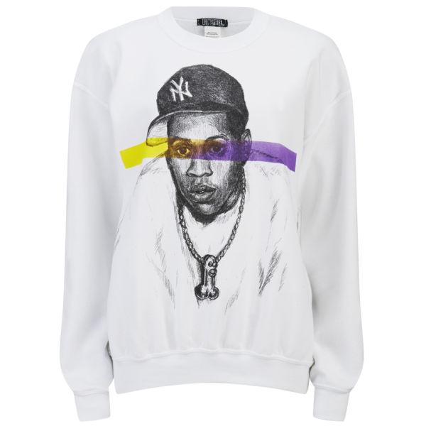 Dimepiece Women's Magnum Carter Crew Sweatshirt - White