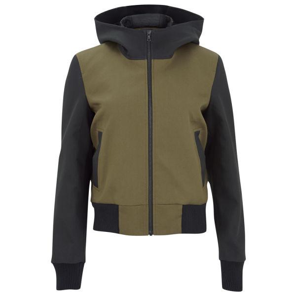 Christopher Raeburn Women's Colour Block Coated Bomber Jacket - Black/Olive