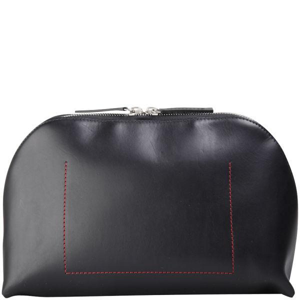 bill amberg classic leather washbag black red free uk delivery over 50. Black Bedroom Furniture Sets. Home Design Ideas