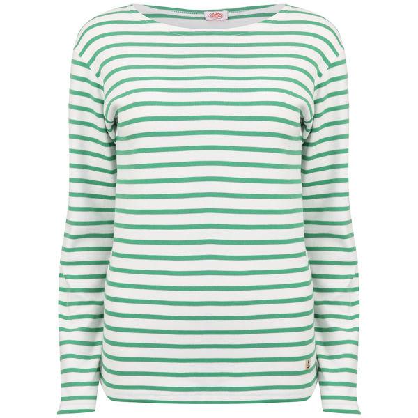 Armor Lux Women's Heritage Brenton Shirt - Milk/Emerald