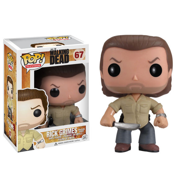 The Walking Dead Prison Yard Rick Pop! Vinyl Figure