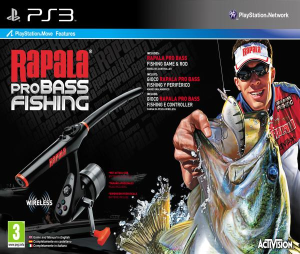 Rapala pro bass fishing with rod ps3 zavvi for Ps3 fishing games