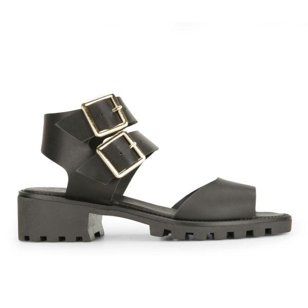 Miista Women's Patti Leather Sandals - Black
