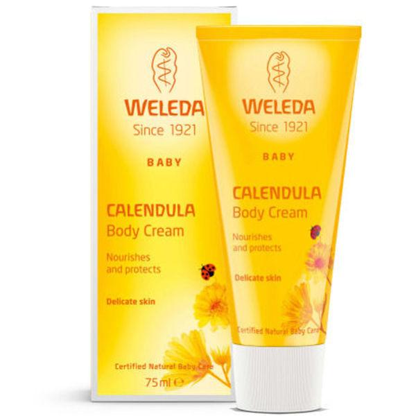 Crème pour le corps hydratante au calendula pour bébé de Weleda(75ml)