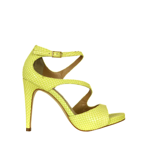 Diane von Furstenberg Women's Jujette Snake Print Sandals - Banana