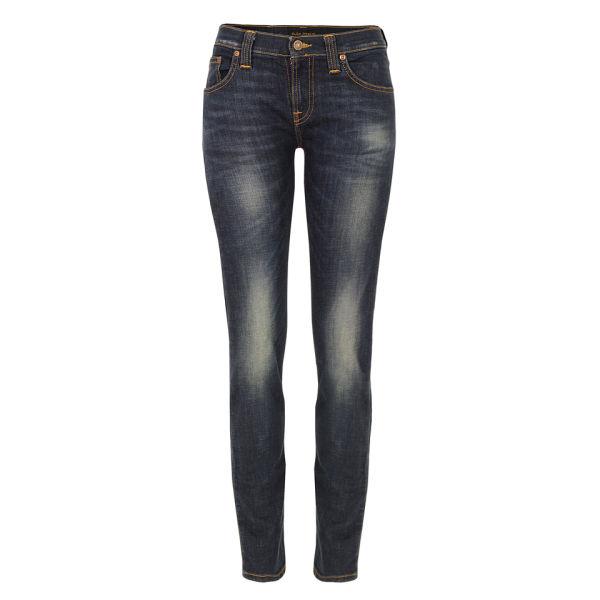 Nudie Women's Tube Kelly Organic Thin Ring Skinny Jeans - Blue
