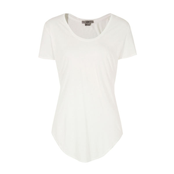 Helmut Lang Women's Kinetic Jersey Scoop Neck T-Shirt - Optic White