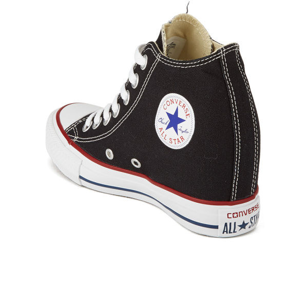 09623c90be16 Converse Women s Chuck Taylor All Star Lux Hidden Wedge Canvas Trainers -  Black  Image 5