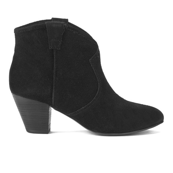 Ash Women's Jalouse Suede Heeled Ankle Boots - Black