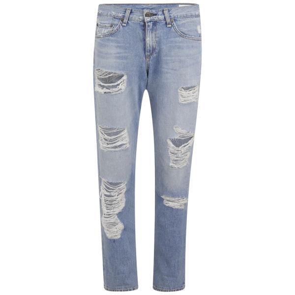 rag & bone Women's Boyfriend Jeans - Rebel Wash