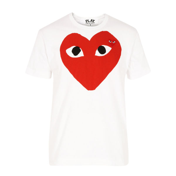 Comme des Garcons PLAY Men's P1T026 T-Shirt - White