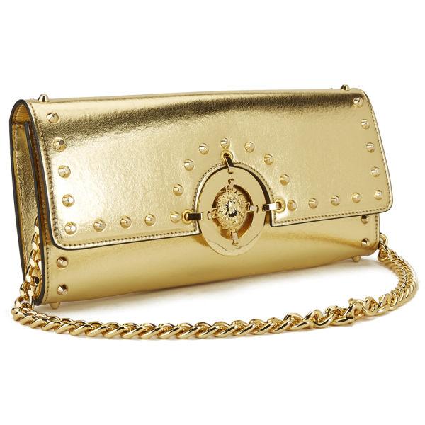 Hardware Versus Metalic Women's Clutch Stud Versace Gold Bag wqq6tCzRx