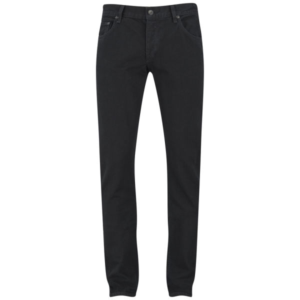 rag & bone Men's Standard Issue Fit 2 Low Rise Slim Fit Jeans - Black Coated Denim