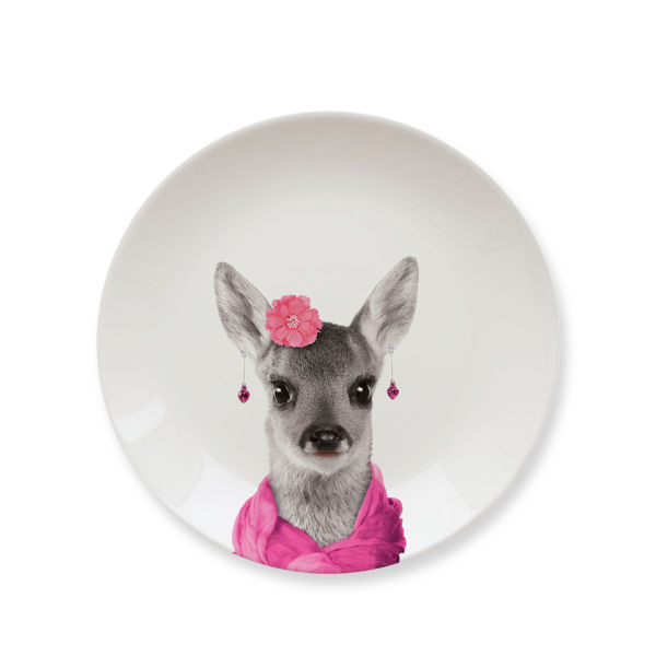 Wild Dining Baby Deer - Ceramic Side Plate