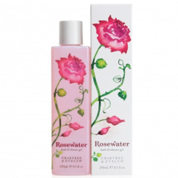 Gel de douche et de bain Crabtree & Evelyn à base d'eau de rose (250ml)