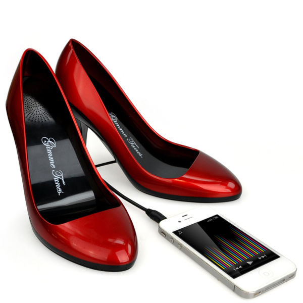 Stiletto Speaker Shoes Gimme Tunes Red Iwoot